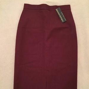Banana Republic Sloan Pencil Skirt – Burgundy